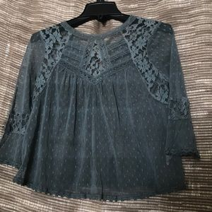 Tops - Free People lace crop top